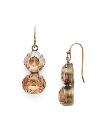 Dynamic Duo Earring in Antique Gold-tone Neutral Territory