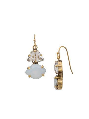 Rebecca Earring in Antique Gold-tone Opal