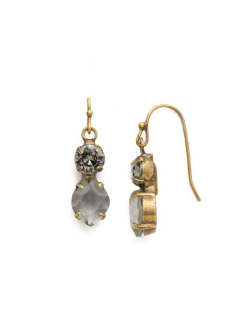 Majestic Marquise Earring in Antique Gold-tone Black Diamond
