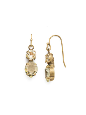 Majestic Marquise Earring in Antique Gold-tone Crystal Champagne