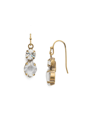 Majestic Marquise Earring in Antique Gold-tone Crystal