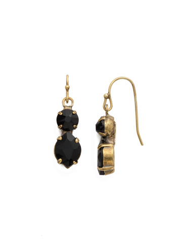 Majestic Marquise Earring in Antique Gold-tone Jet