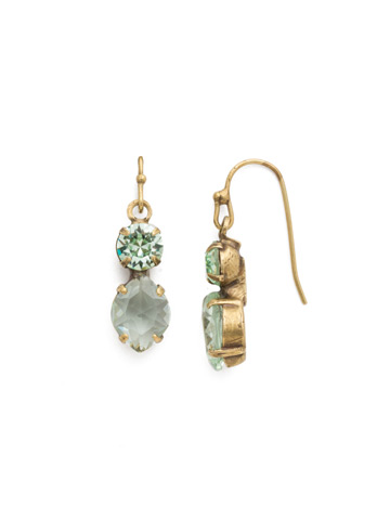 Majestic Marquise Earring in Antique Gold-tone Mint