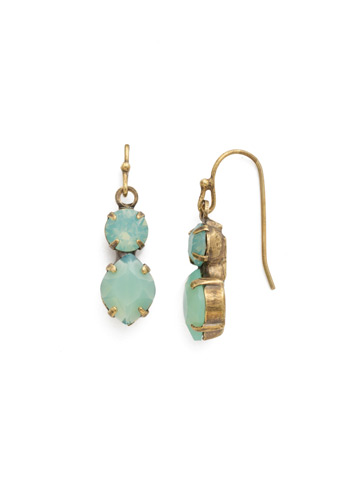Majestic Marquise Earring in Antique Gold-tone Pacific Opal