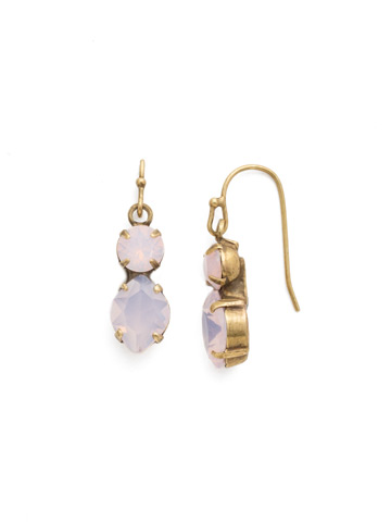 Majestic Marquise Earring in Antique Gold-tone Rose Water