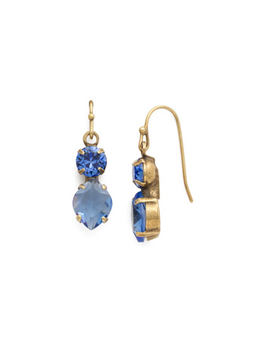 Majestic Marquise Earring in Antique Gold-tone Sapphire
