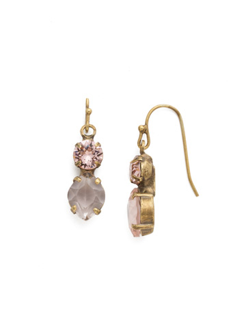 Majestic Marquise Earring in Antique Gold-tone Vintage Rose