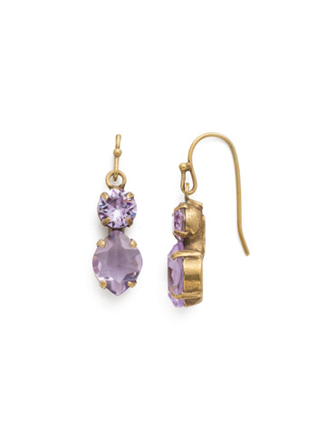 Majestic Marquise Earring in Antique Gold-tone Violet