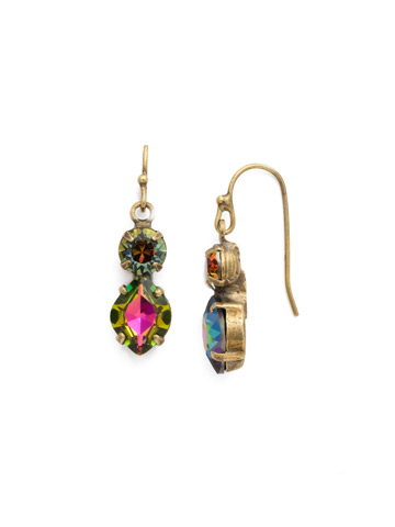 Majestic Marquise Earring in Antique Gold-tone Volcano