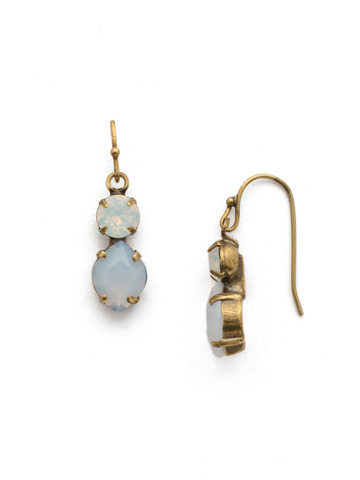 Majestic Marquise Earring in Antique Gold-tone White Opal