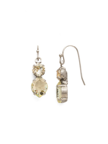 Majestic Marquise Earring in Antique Silver-tone Crystal Champagne