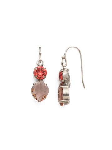 Majestic Marquise Earring in Antique Silver-tone Coral