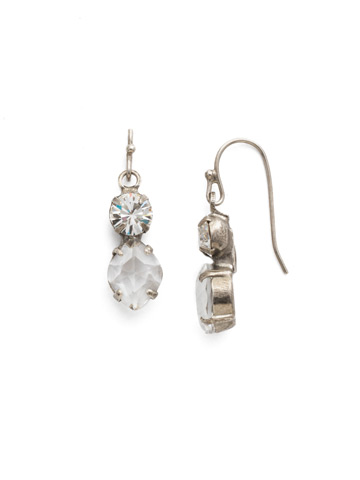 Majestic Marquise Earring in Antique Silver-tone Crystal