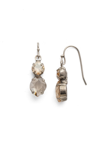 Majestic Marquise Earring in Antique Silver-tone Dark Champagne