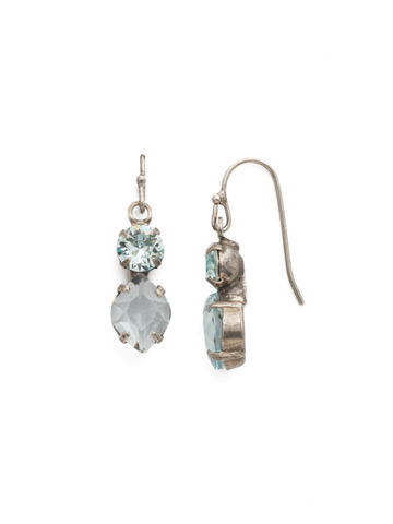 Majestic Marquise Earring in Antique Silver-tone Light Aqua