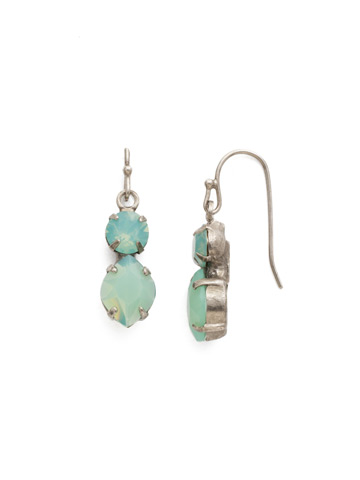 Majestic Marquise Earring in Antique Silver-tone Pacific Opal