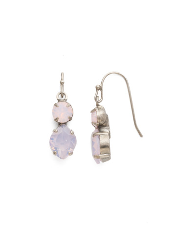 Majestic Marquise Earring in Antique Silver-tone Rose Water