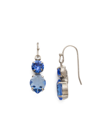 Majestic Marquise Earring in Antique Silver-tone Sapphire