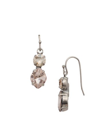 Majestic Marquise Earring in Antique Silver-tone Satin Blush