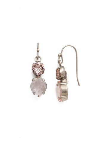 Majestic Marquise Earring in Antique Silver-tone Vintage Rose