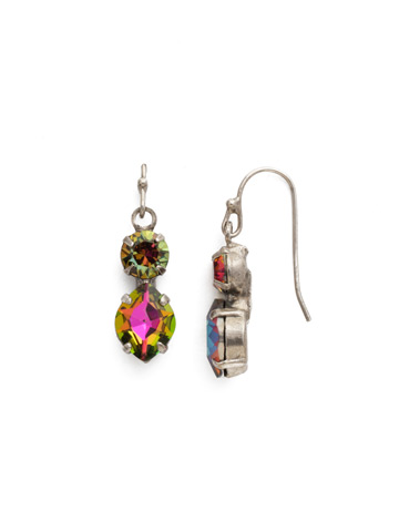 Majestic Marquise Earring in Antique Silver-tone Volcano