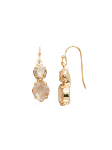 Majestic Marquise Earring in Bright Gold-tone Dark Champagne