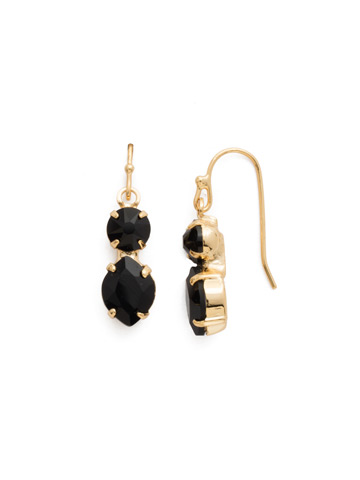 Majestic Marquise Earring in Bright Gold-tone Jet