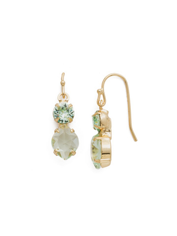 Majestic Marquise Earring in Bright Gold-tone Mint