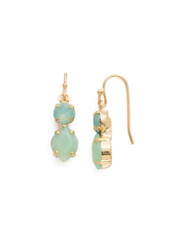Majestic Marquise Earring in Bright Gold-tone Pacific Opal
