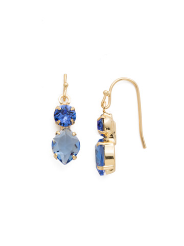 Majestic Marquise Earring in Bright Gold-tone Sapphire