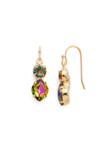 Majestic Marquise Earring in Bright Gold-tone Volcano