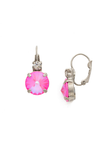 Two Up Earring in Antique Silver-tone Pink Mutiny