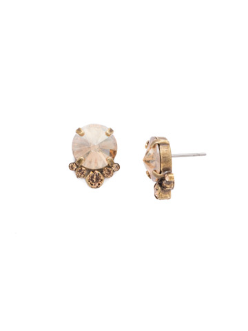 Regal Rounds Earring in Antique Gold-tone Neutral Territory