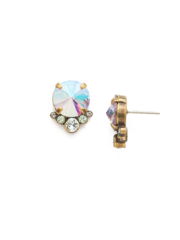 Regal Rounds Earring in Antique Gold-tone Washed Waterfront