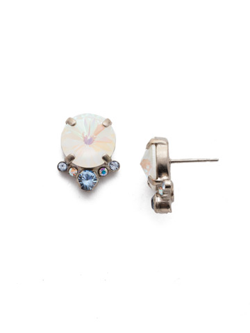 Regal Rounds Earring in Antique Silver-tone Glacier