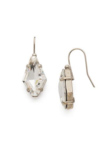 Diamond Drop Earring in Antique Silver-tone Crystal