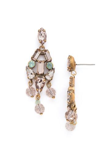 OOAK Earrings in Antique Gold-tone Apricot Agate