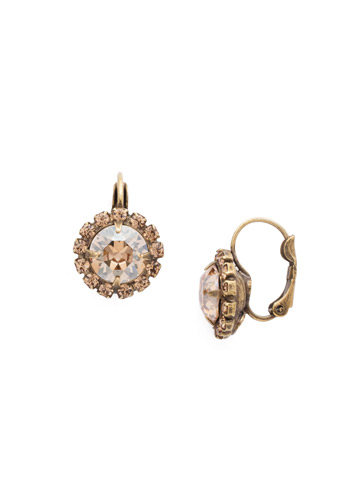 Haute Halo French Wire Earring in Antique Gold-tone Neutral Territory