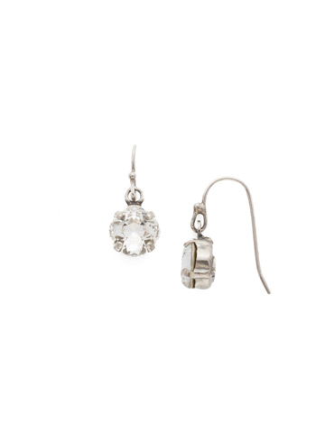 Finishing Touch Earring in Antique Silver-tone Crystal