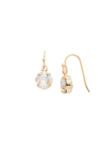 Finishing Touch Earring in Bright Gold-tone Crystal