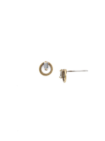 Accento Earring in Antique Gold-tone Crystal