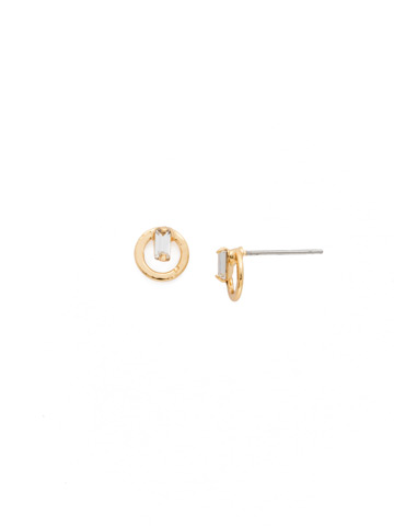 Accento Earring in Bright Gold-tone Crystal