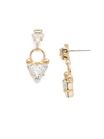 Tri Again Crystal Earring in Bright Gold-tone Crystal