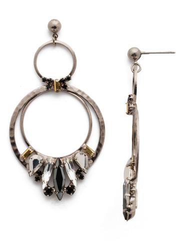 Rolling Stones Earring in Antique Silver-tone Heavy Metal