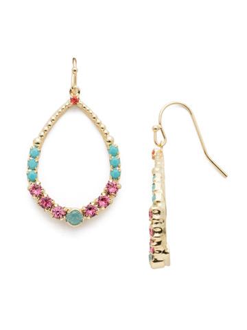 Amaya Drop Earring in Bright Gold-tone Candy Pop