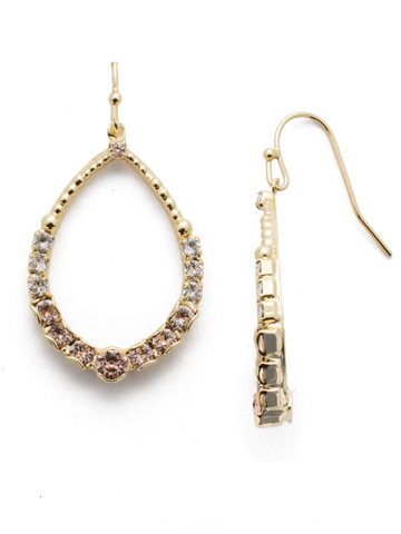 Amaya Drop Earring in Bright Gold-tone Silky Clouds