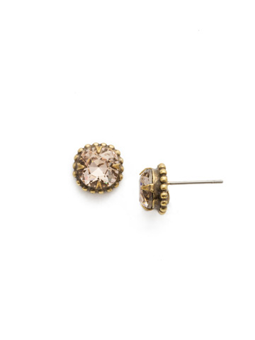 Snowdrop Earring in Antique Gold-tone Sandstone