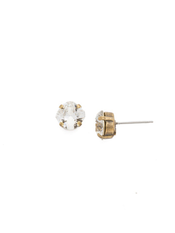 One and Only Earring in Antique Gold-tone Crystal