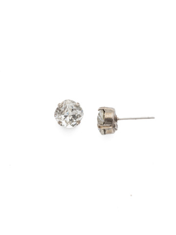 One and Only Earring in Antique Silver-tone Crystal