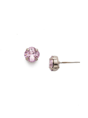 One and Only Earring in Antique Silver-tone Misty Pink